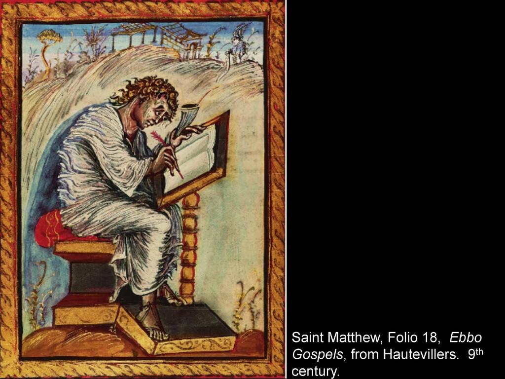 Saint Matthew, Folio 18, Ebbo Gospels, from Hau...