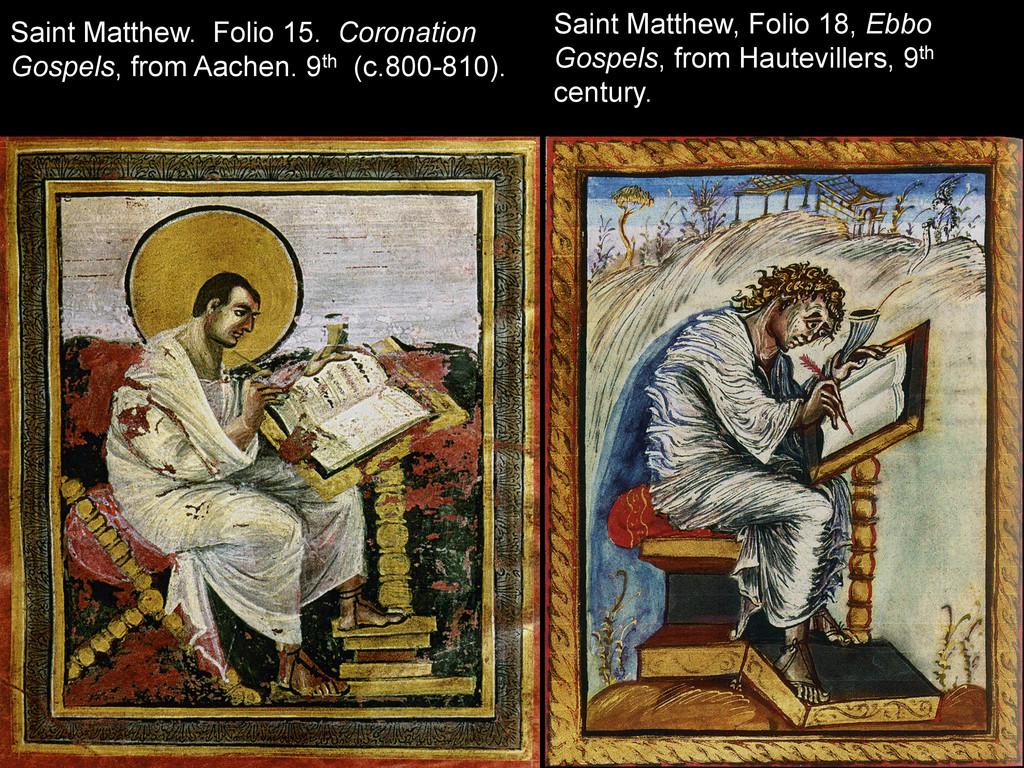 Saint Matthew. Folio 15. Coronation Gospels, fr...
