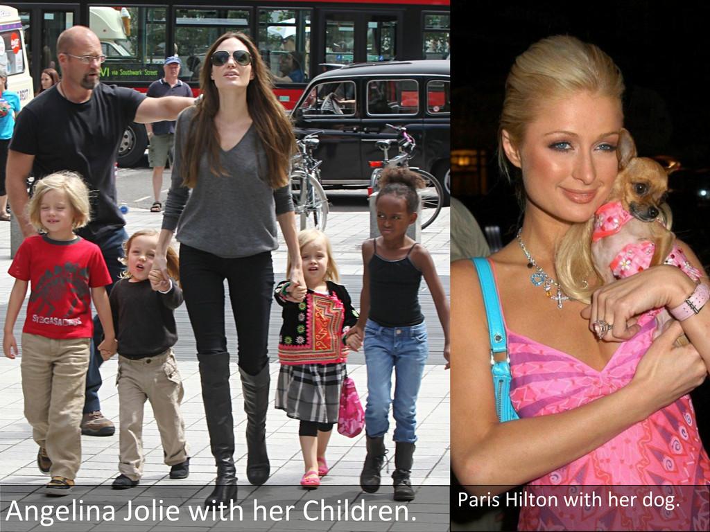 Angelina Jolie with her Children....