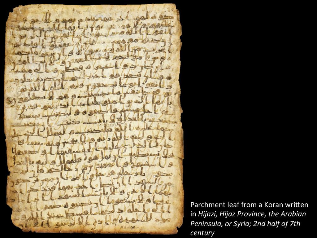 Parchment leaf from a Koran wriW...