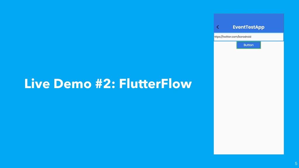 Live Demo #2: FlutterFlow