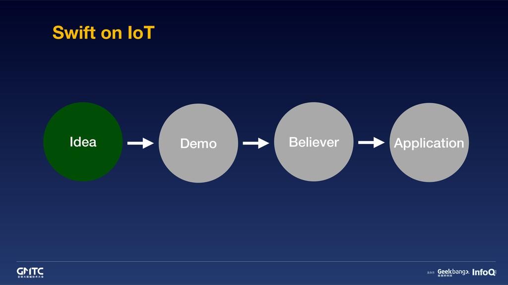 Swift on IoT Idea Demo Believer Application
