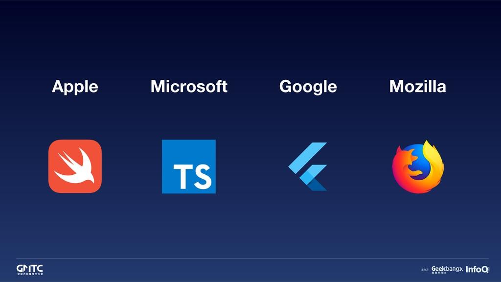 Apple Microsoft Google Mozilla