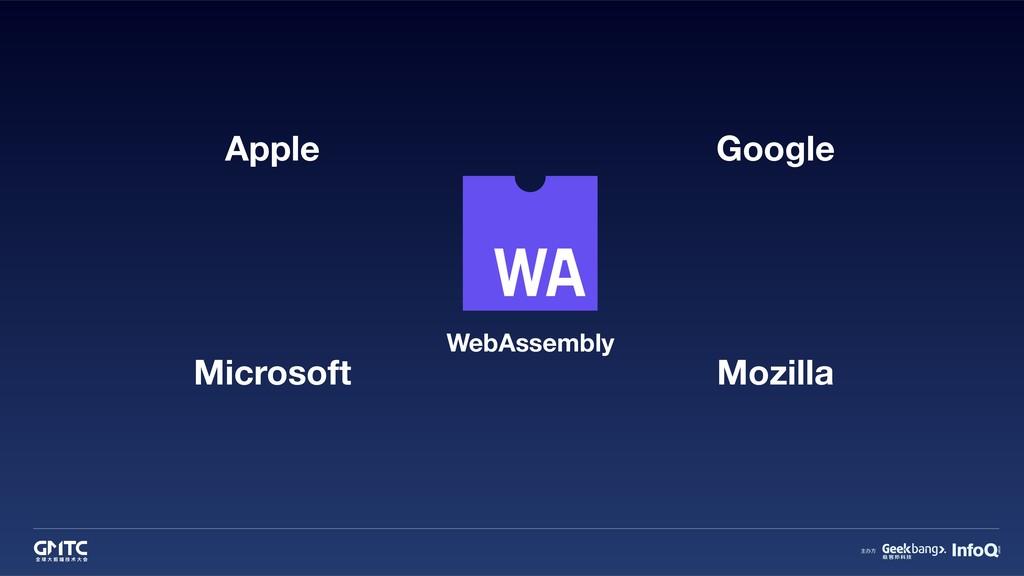 WebAssembly Apple Microsoft Google Mozilla