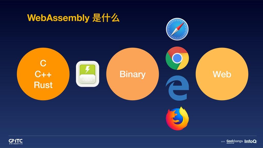 WebAssembly 是什什么 C C++ Rust Binary Web