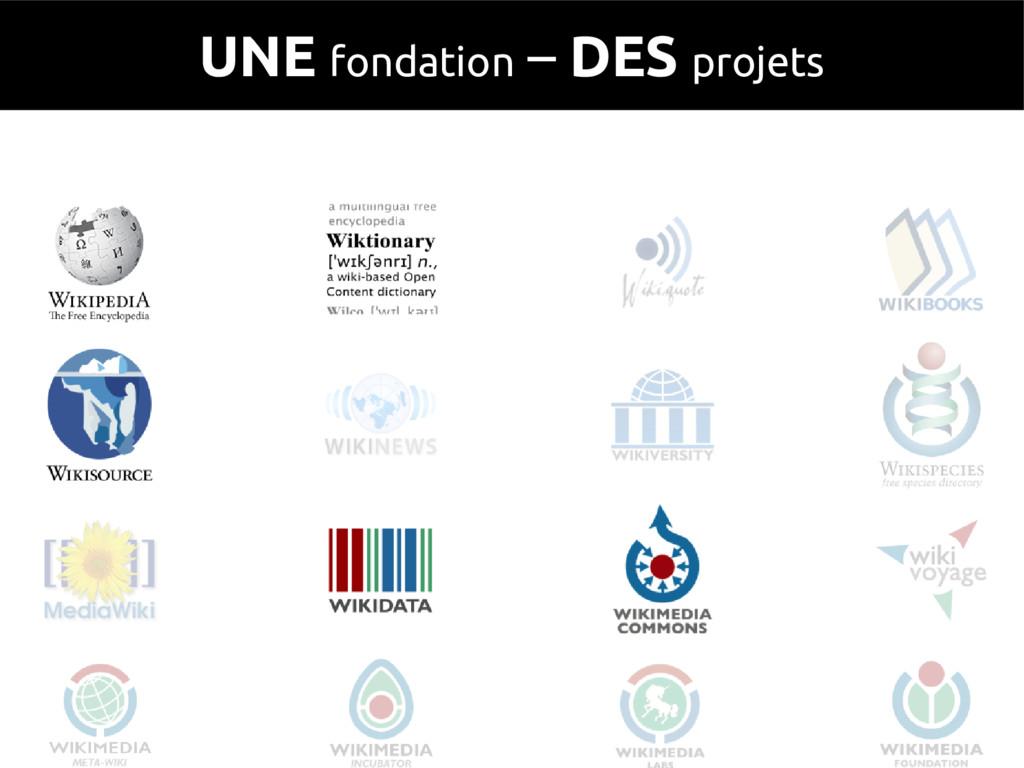 UNE fondation – DES projets