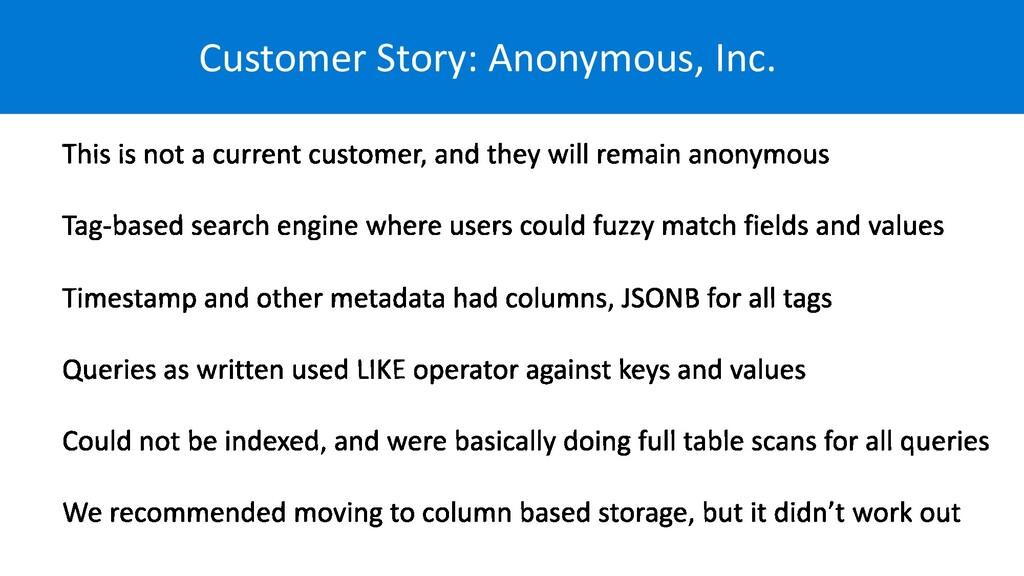 Customer Story: Anonymous, Inc.