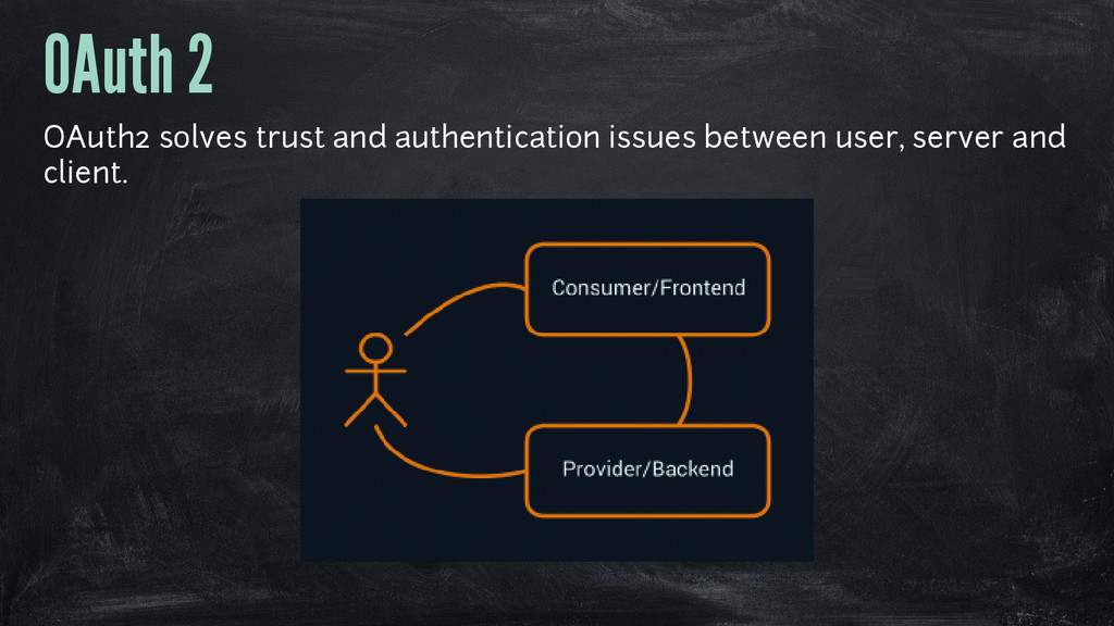 OAuth 2 OAuth2 solves trust and authentication ...