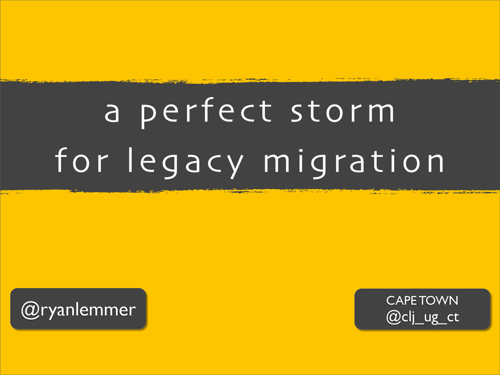 @ryanlemmer a perfect storm for legacy migratio...