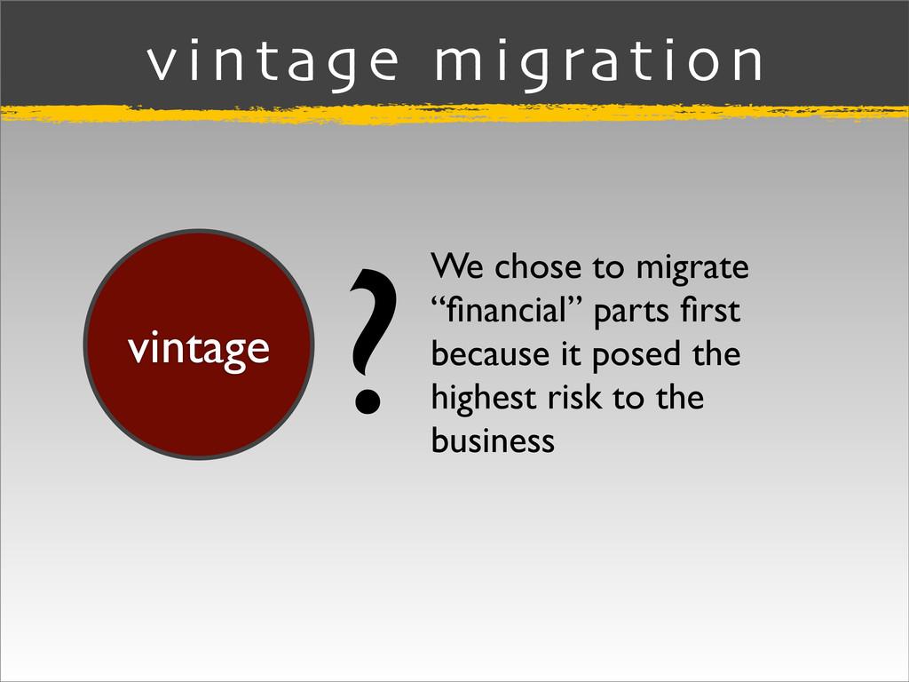 """vintage migration vintage We chose to migrate """"..."""