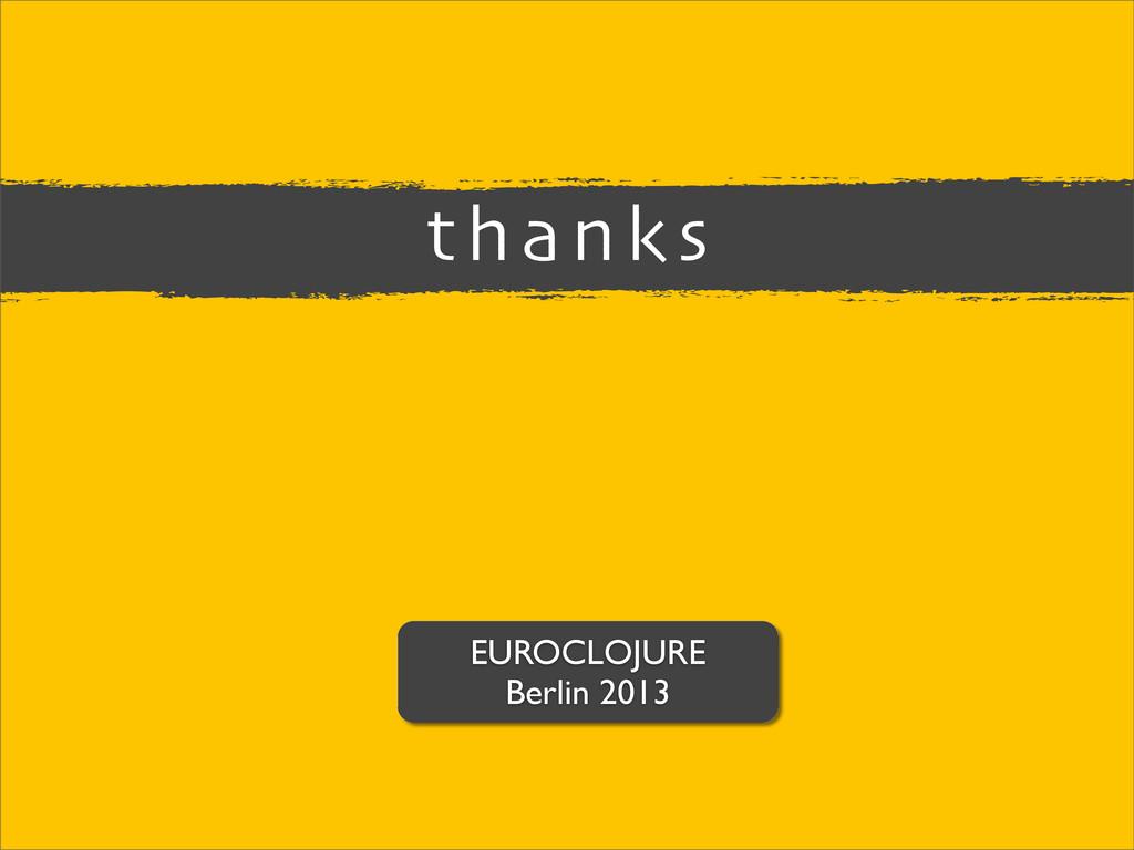 EUROCLOJURE Berlin 2013 thanks