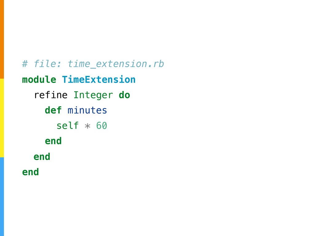 # file: time_extension.rb module TimeExtension ...