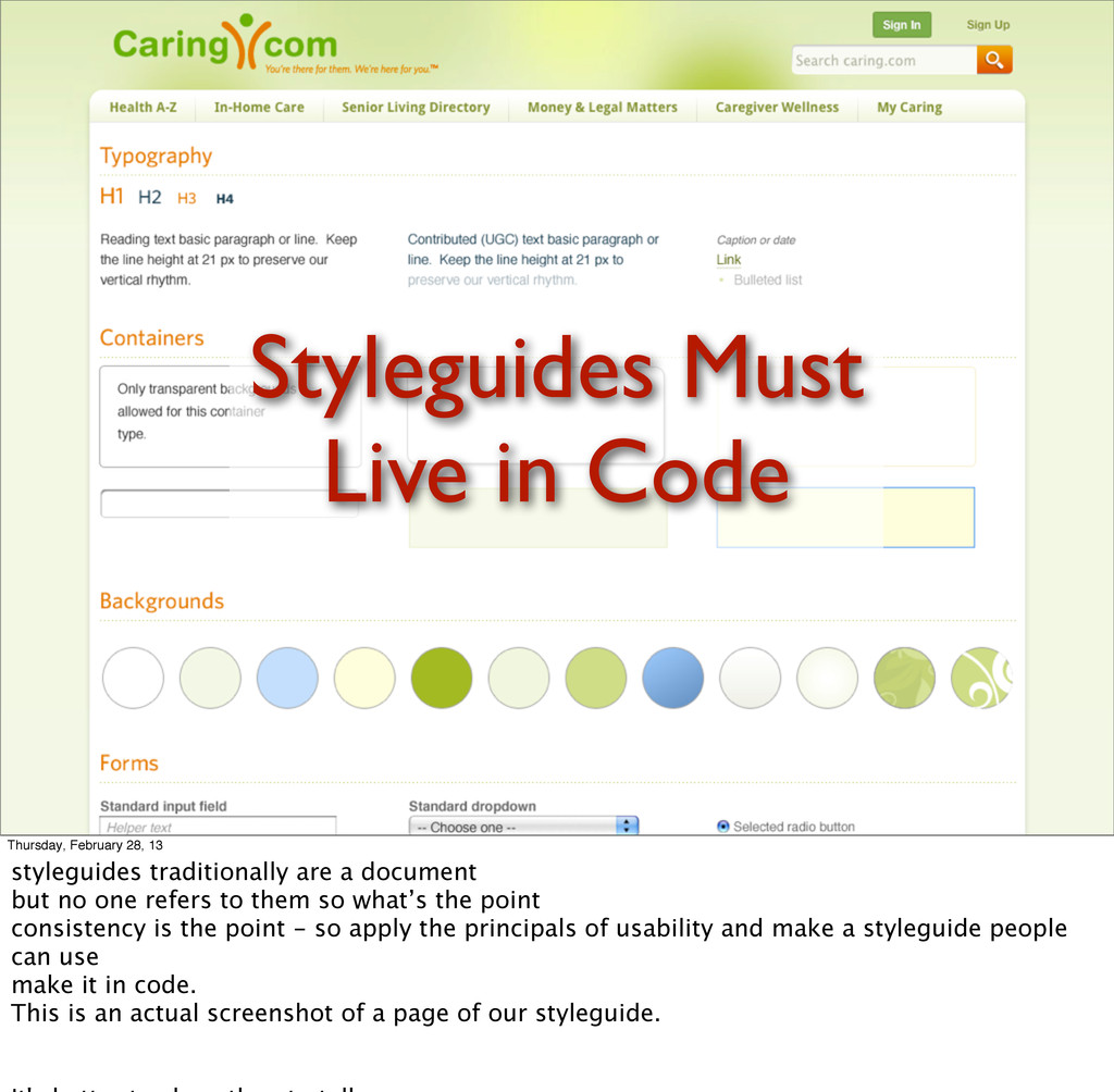 Styleguides Must Live in Code Thursday, Februar...