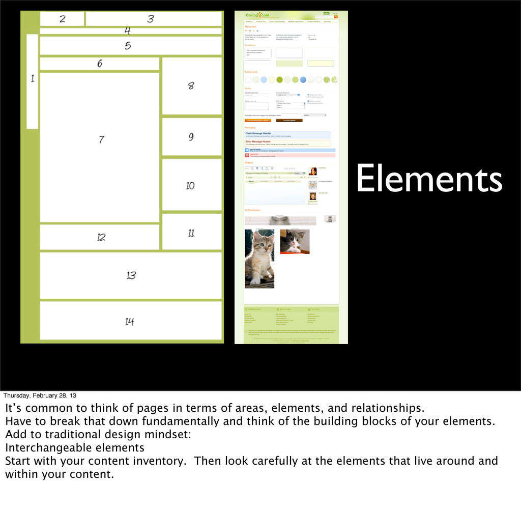 Elements Thursday, February 28, 13 It's common ...