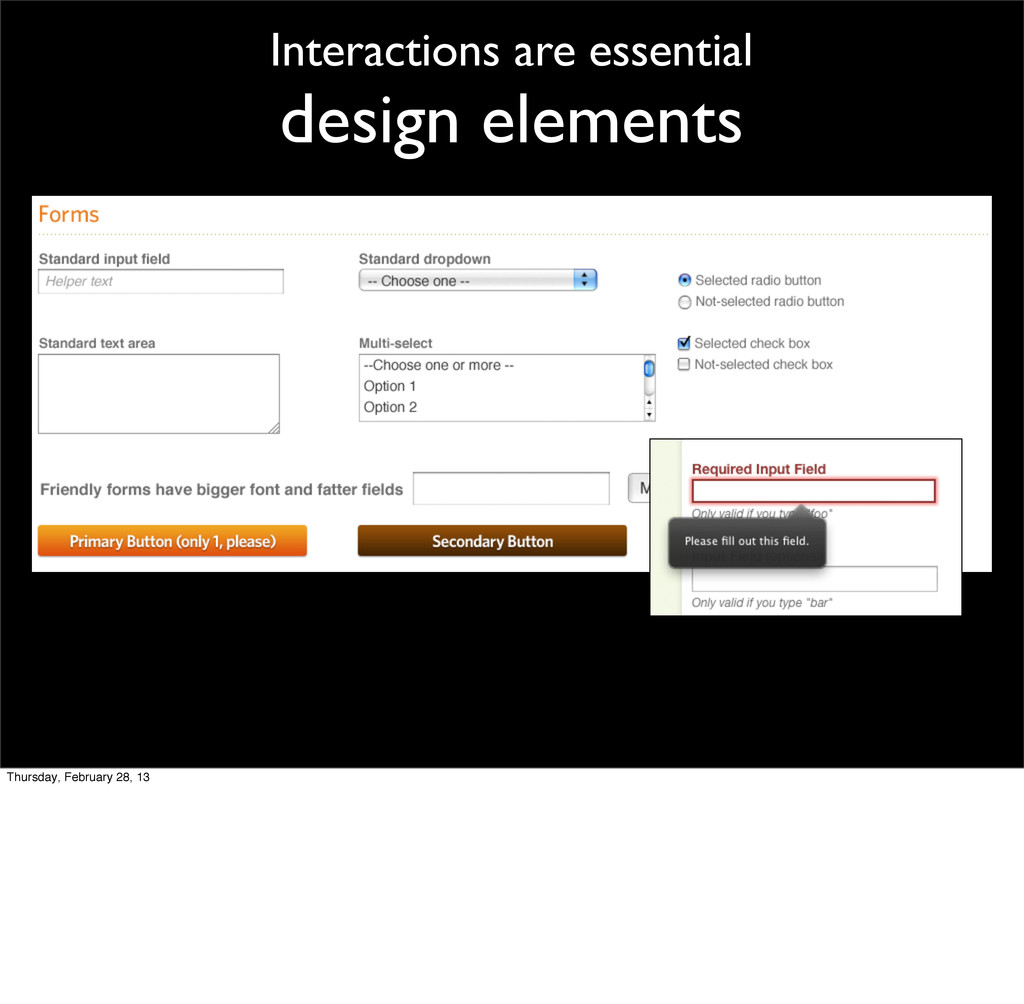 Interactions are essential design elements Thur...