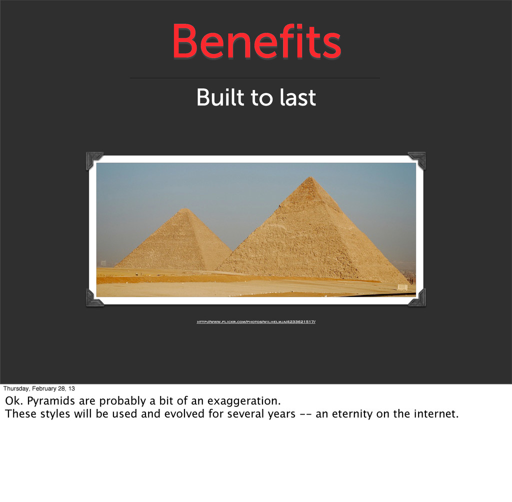 Benefits Built to last http://www.flickr.com/ph...