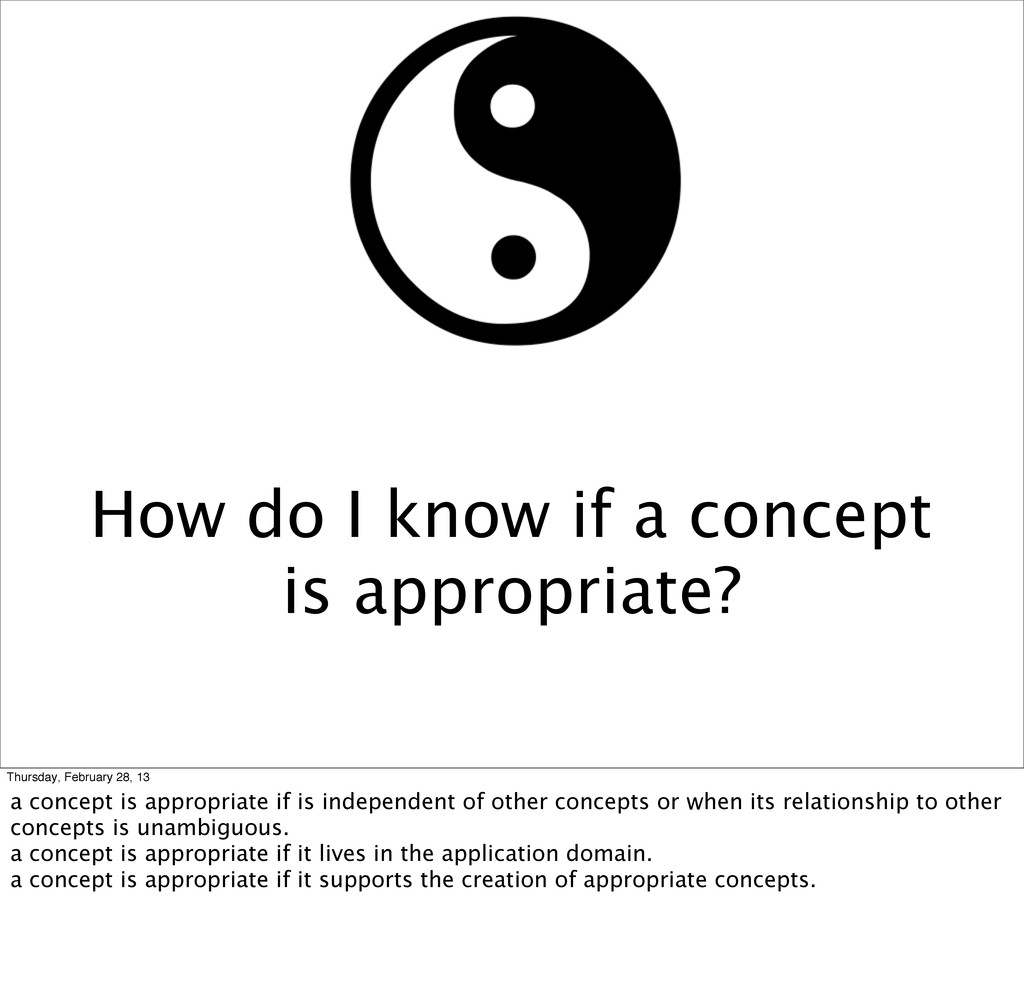 How do I know if a concept is appropriate? Thur...