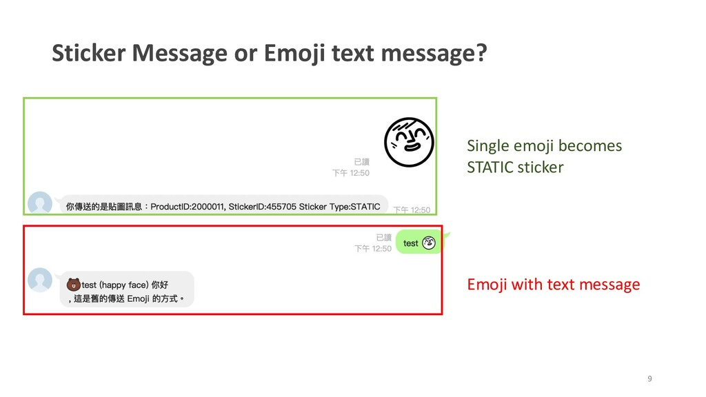 Sticker Message or Emoji text message? Single e...