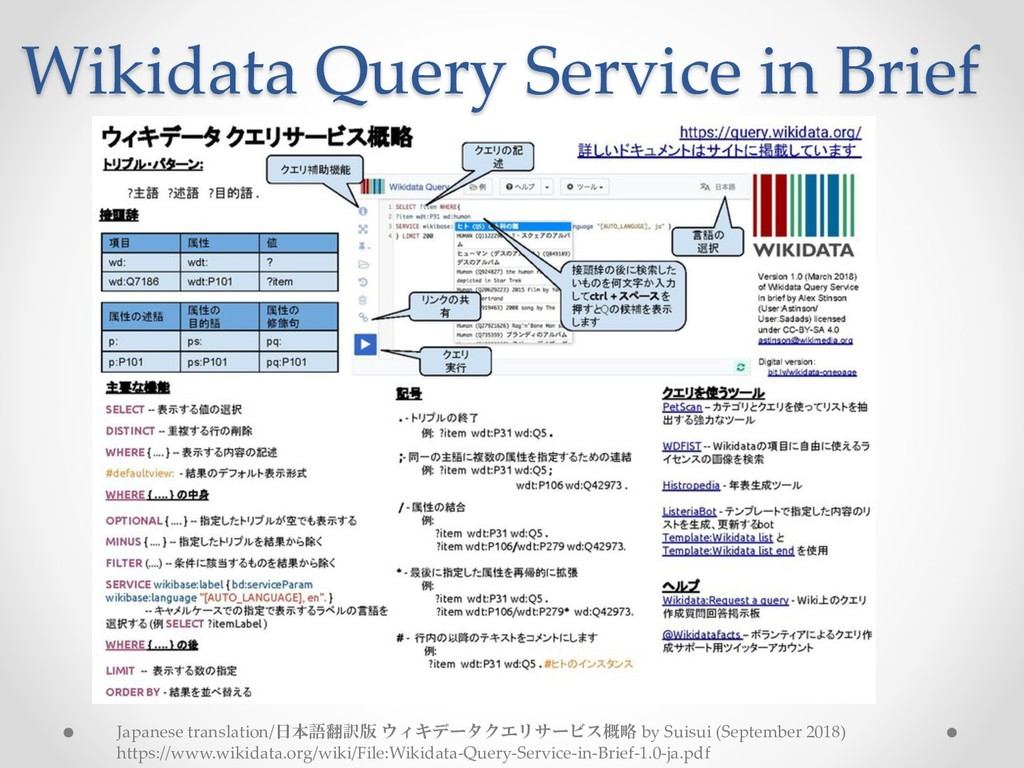 Wikidata Query Service in Brief Japanese transl...