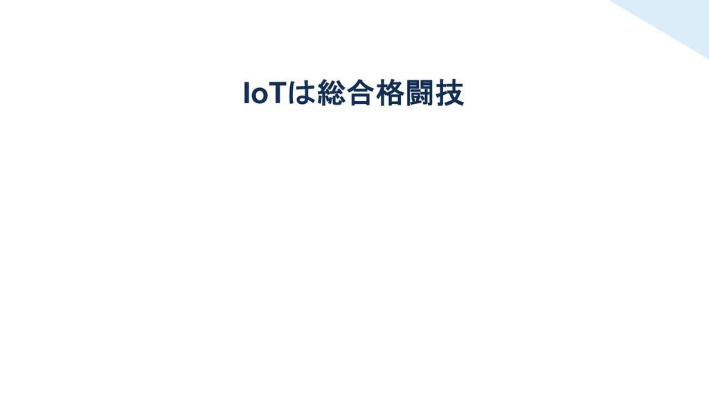 IoTは総合格闘技