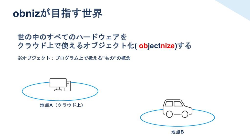 obnizが目指す世界 世の中のすべてのハードウェアを クラウド上で使えるオブジェクト化( o...