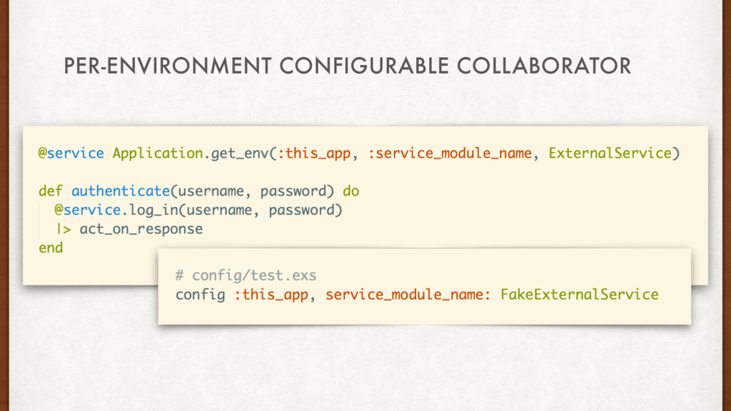 PER-ENVIRONMENT CONFIGURABLE COLLABORATOR