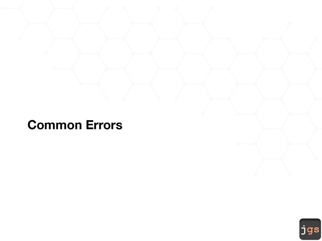 jgs Common Errors