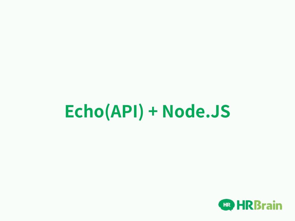 Echo(API) + Node.JS