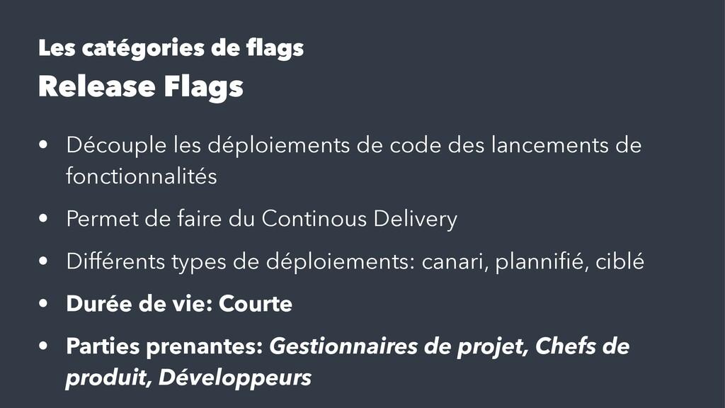 Les catégories de flags Release Flags • Découple...