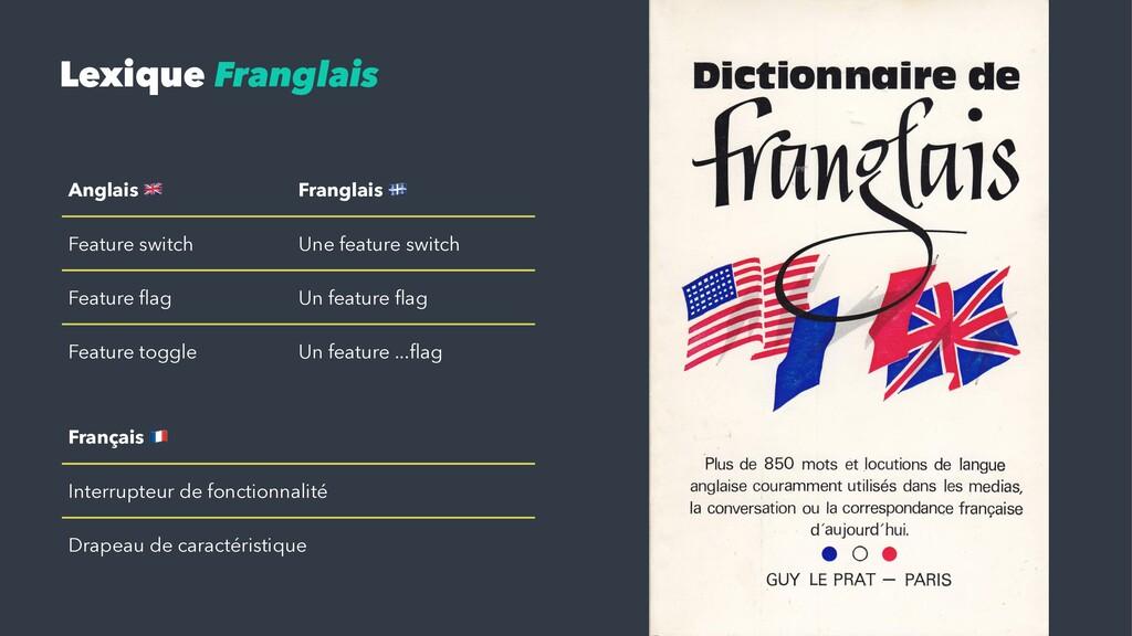 """Lexique Franglais Anglais ! Franglais """" Feature..."""