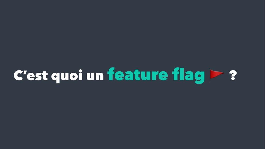 C'est quoi un feature flag ?
