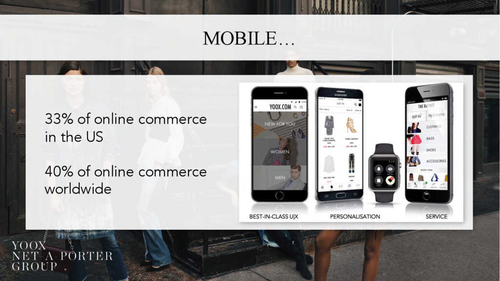 MOBILE… 33% of online commerce in the US 40% of...