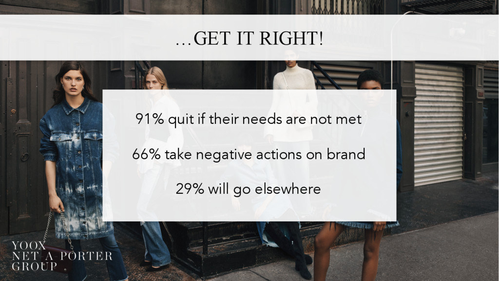 …GET IT RIGHT! 91% quit if their needs are not ...