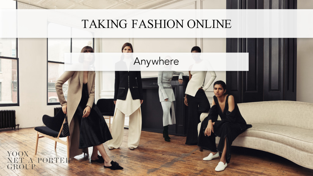 TAKING FASHION ONLINE Anywhere