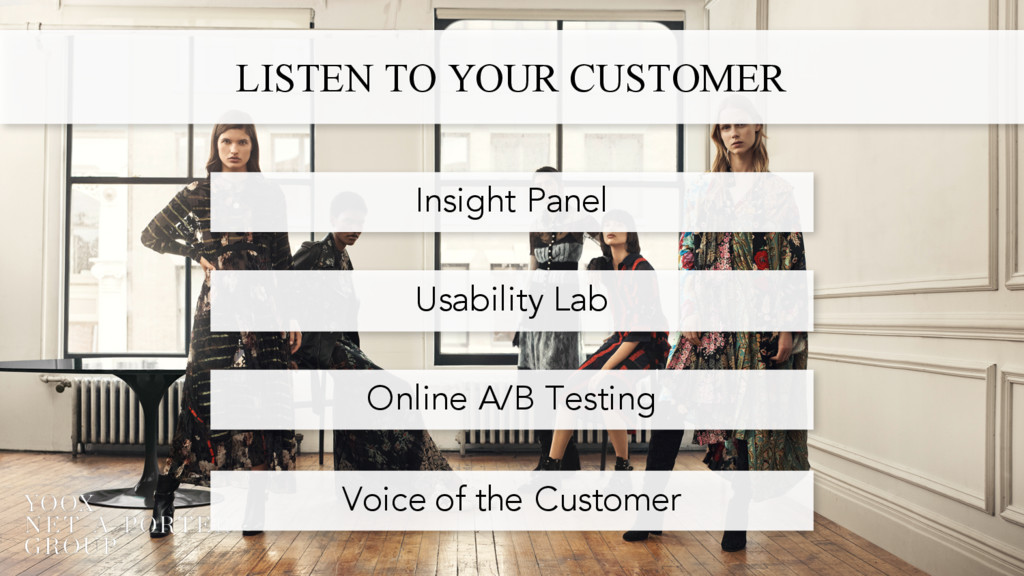LISTEN TO YOUR CUSTOMER Insight Panel Usability...