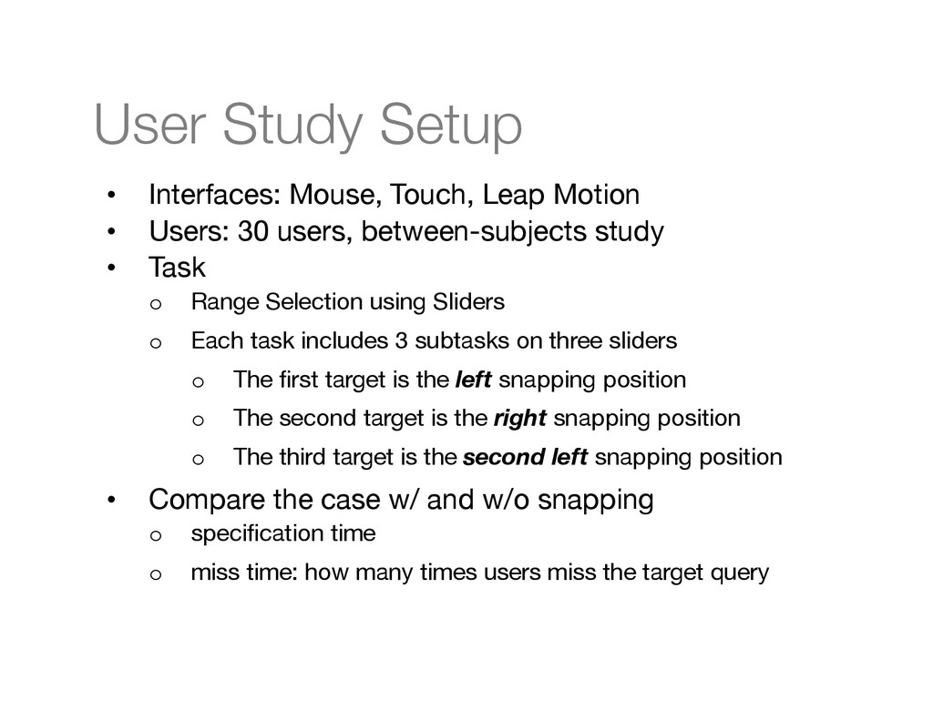 User Study Setup