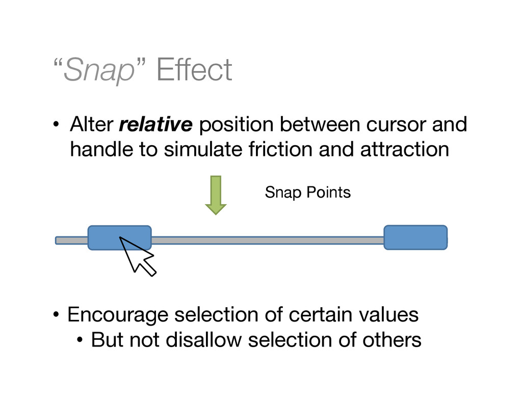 """Snap"" Effect