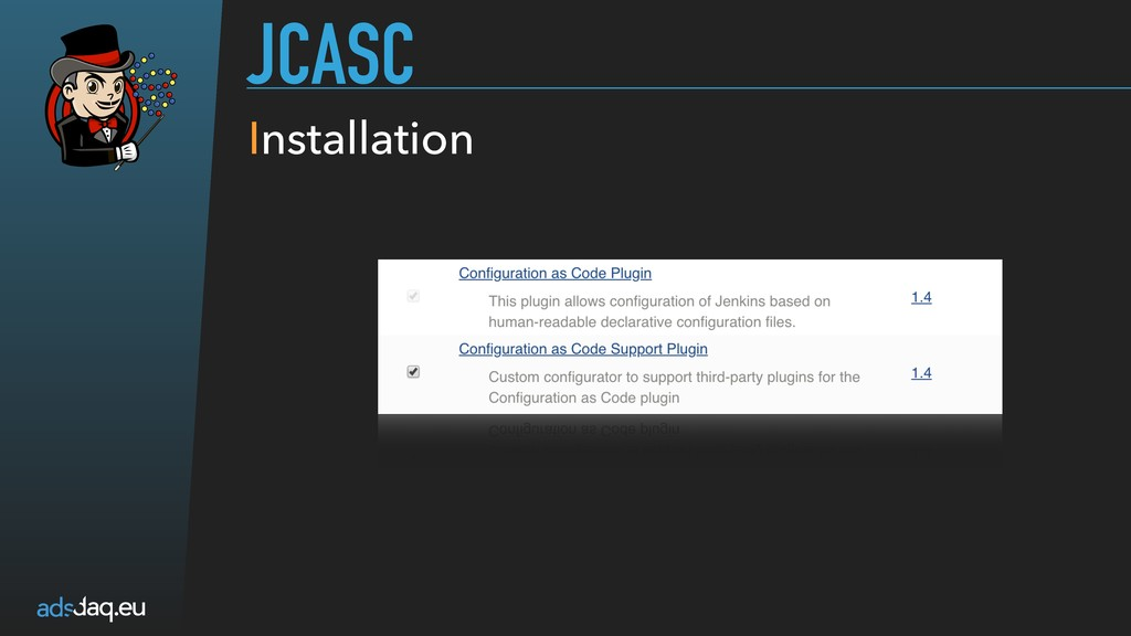 JCASC Installation