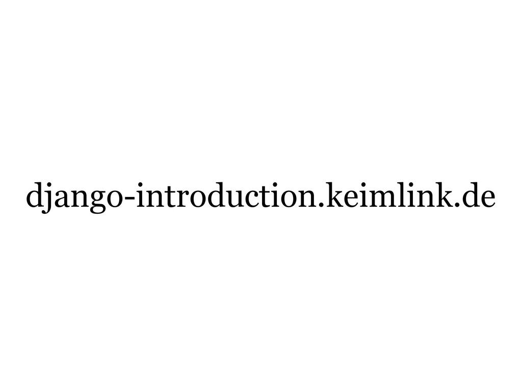django-introduction.keimlink.de