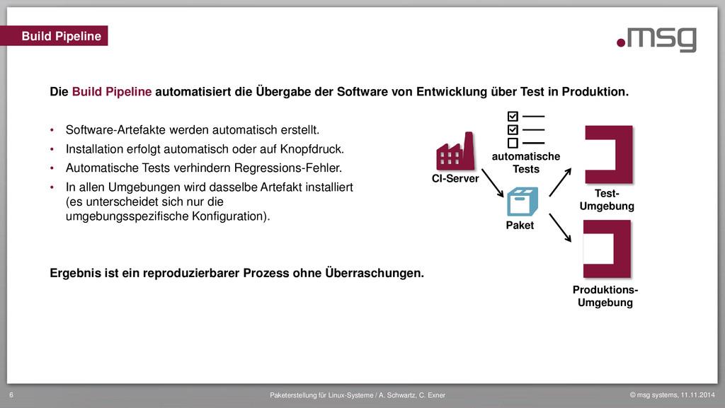 © msg systems, 11.11.2014 Paketerstellung für L...