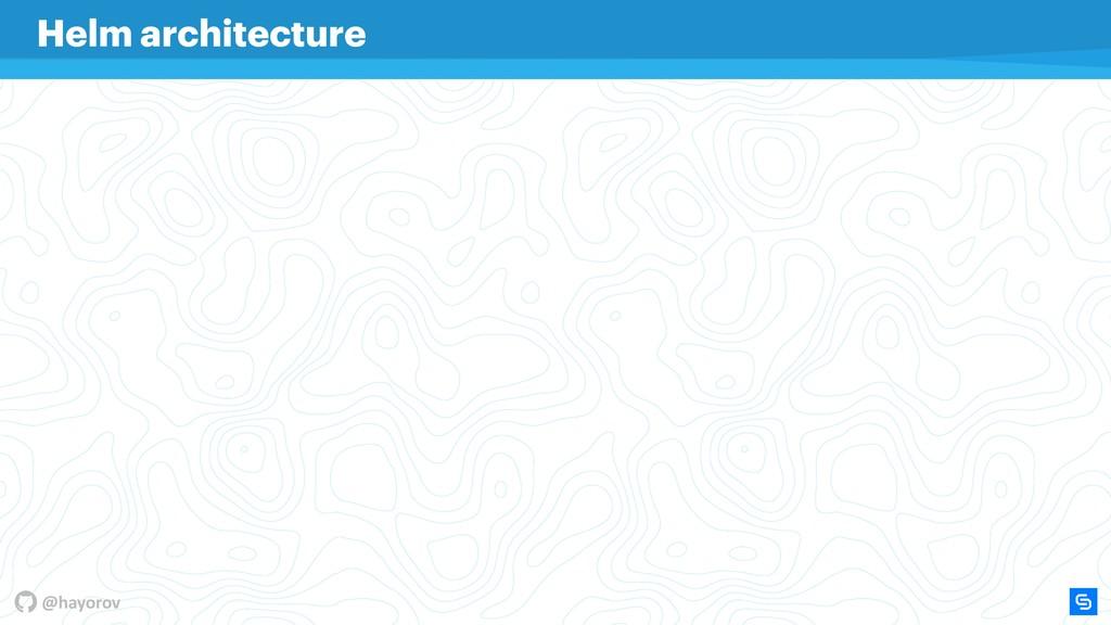 @hayorov Helm architecture