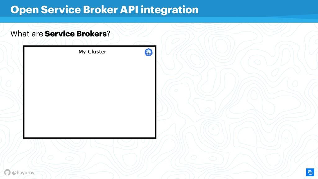 @hayorov My Cluster Open Service Broker API int...