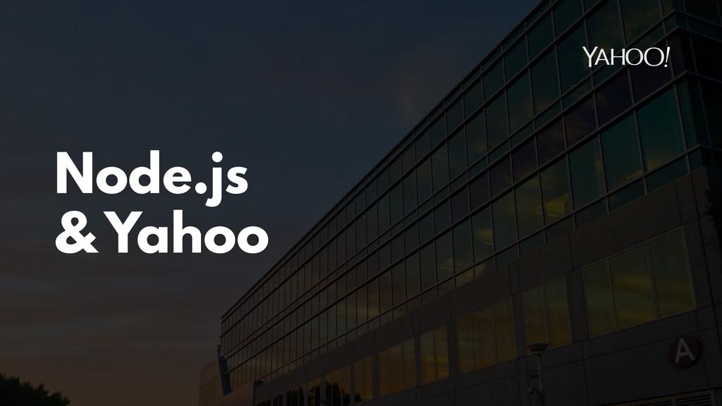 Node.js & Yahoo