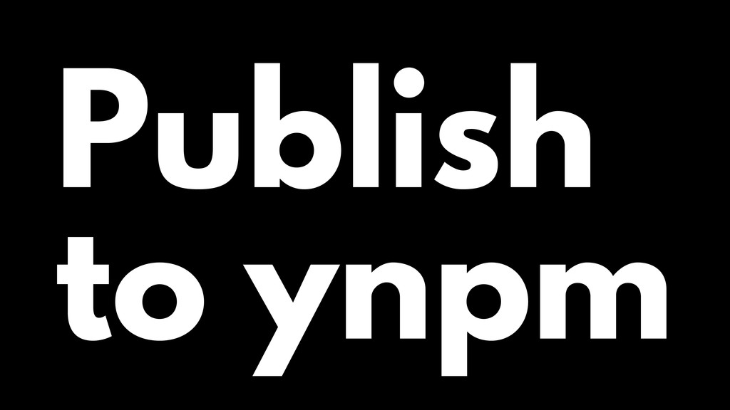 Publish to ynpm