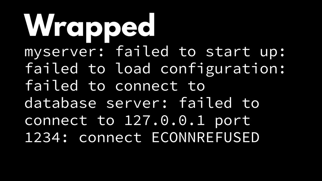 Wrapped myserver: failed to start up: failed to...