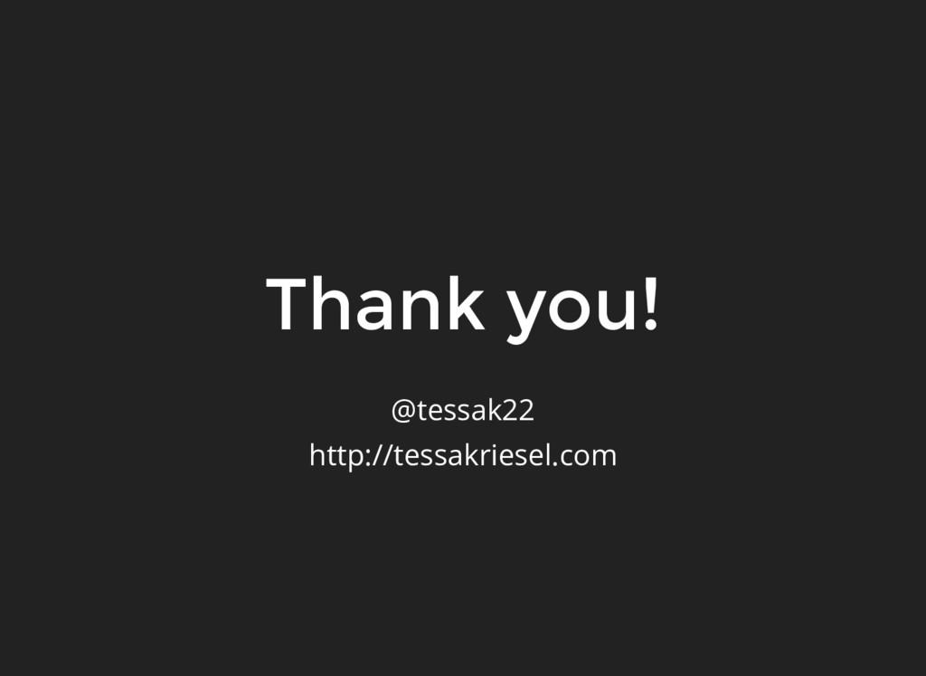 Thank you! @tessak22 http://tessakriesel.com