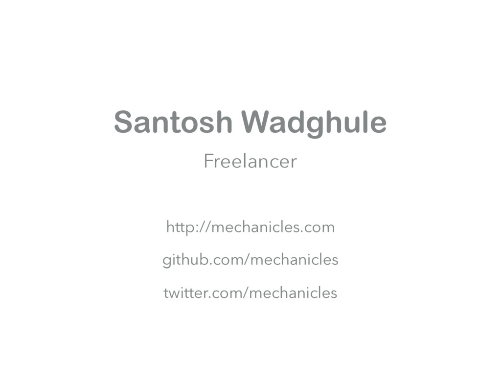 Santosh Wadghule Freelancer http://mechanicles....