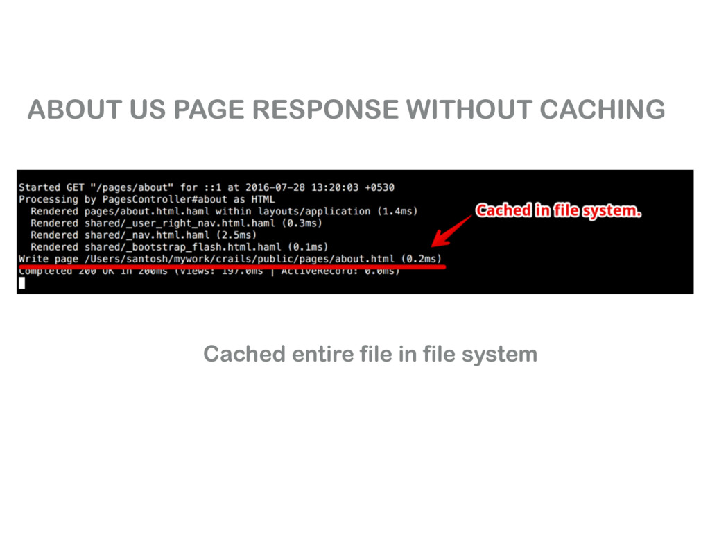 ABOUT US PAGE RESPONSE WITHOUT CACHING Cached e...