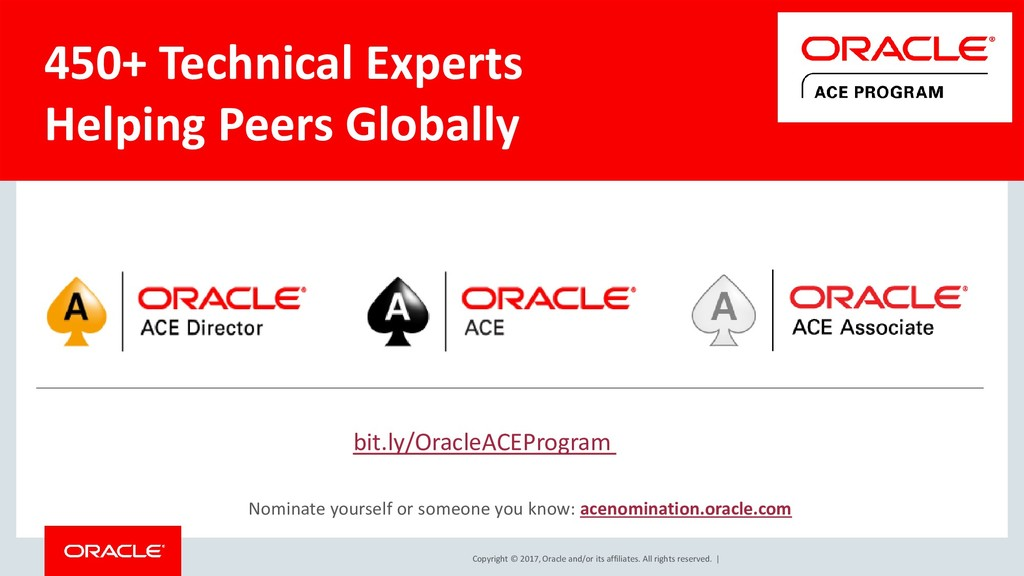 Copyright © 2017, Oracle and/or its affiliates....