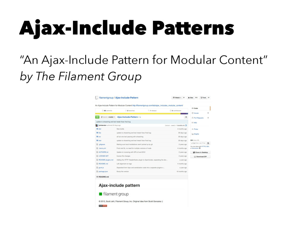"Ajax-Include Patterns ""An Ajax-Include Pattern ..."